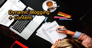 Dynamic Blogging Content