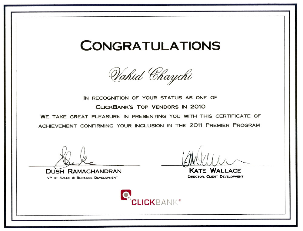 My Success with ClickBank