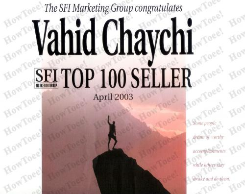 SFI Top Seller (April 2003)